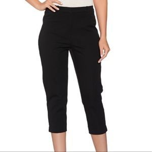 Susan Graver Skinny Cropped Pants Pull On Jeggings